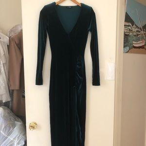 Ultra sexy long velvet dress
